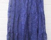 plus size womens purple lace skirt