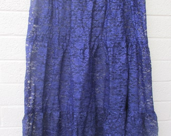 plus size womens purple lace skirt fits waist hips 40-48 inches