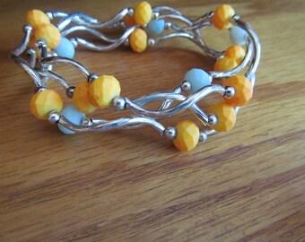 4 tube bracelets