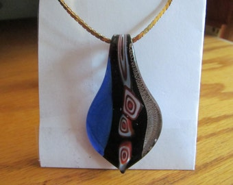 long clored glass pendent