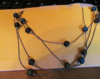 black two strand necklace