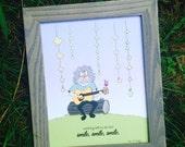 Jerry Garcia Nursery Print - Nursery & Kids room Art - Grateful Dead Quote Art - Smile, smile, smile