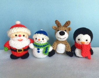 4 TINY WINTER FRIENDS Pdf Crochet pattern (English only)
