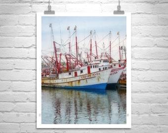 Vintage Boat Photo, Puerto Penasco, Mexico Photos, Rocky Point, Ships Art, Nautical Art, Harbors, Fishing Boats, Sea of Cortez, Seacoast Art