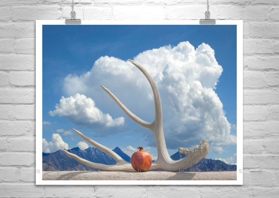 Surreal Art, Pomegranate Art, Still Life Photo, Fine Art Photography, Murray Bolesta, Clouds Art, Sky Art, Arizona Landscape, Tucson Picture