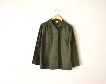 1970's Green Military/Army Shirt