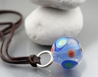 Hand Blown Glass // Blue // Hand Blown // Lampwork Bead Jewelry // By Melanie Moertel