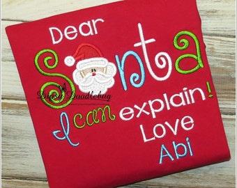 Christmas Pajamas - Dear Santa I can Explain  - Girls Christmas Pajamas- Boys Christmas Pajamas - Boys Christmas - Girls Christmas