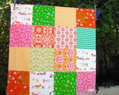32x32 Heather Ross Cats Baby Blanket Ready to Ship