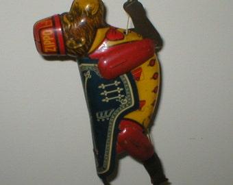 Antique Marx Zippo Monkey String Climbing Litho Tin Toy 1930s Vintage