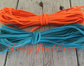 ELASTIC TURQUOISE 1/8 Inch  5 Yards and 10 yards