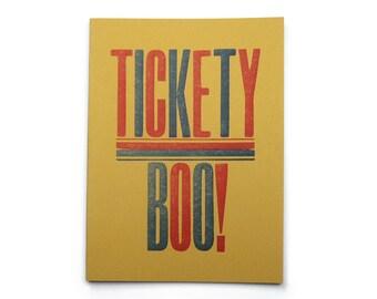 Letterpress Tickety Boo Notebook