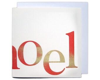 Letterpress Christmas Greetings Card - Noel