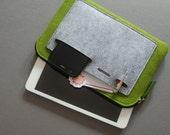 iPad mini Case, Tablet Cover, felt zipper bag.