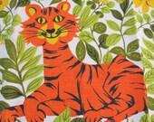 Vintage Kitchen Tea Towel Tiger Parisian Prints MWT
