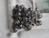 10% off PINE MINI MELONS .. 50 Picasso Czech Melon Beads 3mm (5057-50)