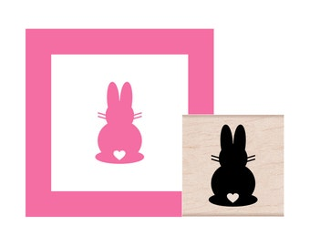 Easter Bunny Tail Rubber Stamp