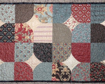 Quilted Table Runner, Moda fabric, Hemming House