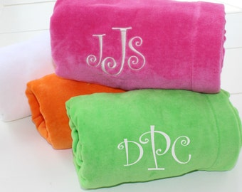 Monogram Terry Velour Towel Wrap Personalized Gift