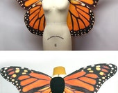 Oversized and Medium Sized Orange Monarch Butterfly Costume Wings