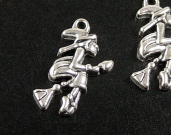 Jewelry WICKED WITCH Halloween Charms 16 Silver 25mm x 14mm x 4mm (1063chm25s1)