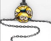 Minion Necklace, Minions Pendant, Minion Minions Jewelry MIN10