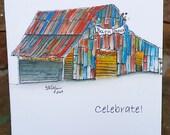 Barn Dance, Celebrate Notecard, blank inside