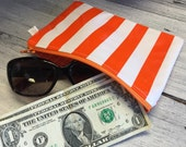 Water Resistant Oil Cloth Pouch - Size Small - 6 Colors Available