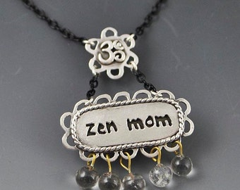 Zen Mom Om Necklace