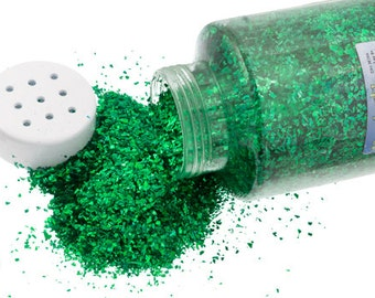 One Package With Sifter Top (450 Grams) Glitter Flakes - Green (503)