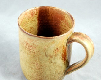 Mug Large Sized for Coffee Tea or Anything in Sienna Wheel Thrown Stoneware