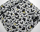 Lined Sandwich bag--Bats, Moons and Stars