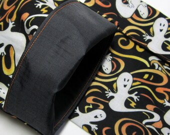 Lined Sandwich bag--Ghosts and Swirls