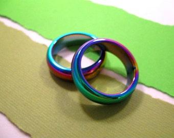 Hematite Iris Ring - Size 8