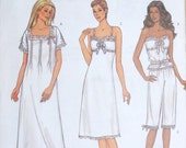 Petite, Misses Slips, Sewing pattern, Ladies camisole,  pants, Pintuck, nightgown,  Easy  Butterick 3612 Size 12 14 16 Uncut
