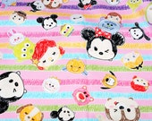 Disney Character  Disney tsum tsum fabric Print 50 cm by 106 cm or 19.6 by 42 inches