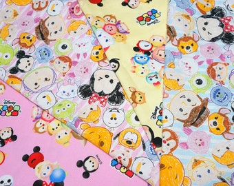 Disney licensed  fabric Disney Tsum Tsum fabric set of 4 fat quarters