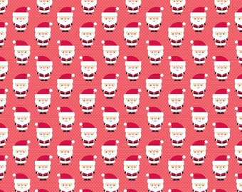 One (1) Yard - Riley Blake Santa Claus Cotton Fabric C4723 Red