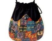 Cat Tapestry Bag Black Velvet Bag  Boho Bag  Colorful Boho Cat Purse Crossbody Bag Bag Hippie Bag