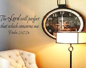 The Lord will perfect that which concerns me wall decal