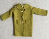 Wool felt doll coat