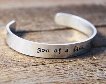 Cuff Bracelet - The Walking Dead- Son of a D**k - Abraham