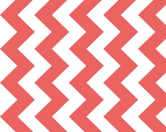 """Riley Blake Medium Chevron ~ Rouge ~ Extra wide fabric 58"""" ~ 100 % woven cotton by the yard"""