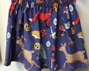 Girls Skirt Deer Skirt Fox Skirt Woodland Animals Skirt Hedgehog skirt Corduroy girls skirt