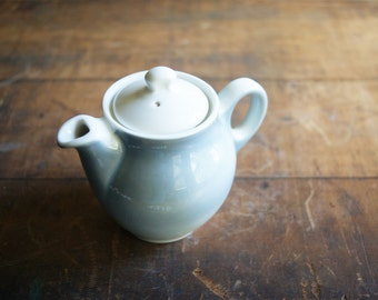 Restaurant Ware Teapot, Syracuse China Restaurantware, Individual Size 2 Cup, Baby Blue and White, Kitchen Decor | Hot Tea