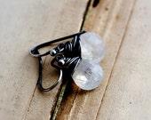 Moonstone Earrings, Moonstone Jewelry, Drop Earrings, Dangle Earrings, Rainbow Moonstone, Sterling Silver, Gemstone Earrings