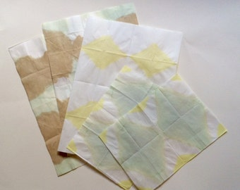 Botanical hand dyed Japanese paper samples