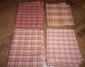 Quilt Fabric Quality Homespun Plaids free shipping