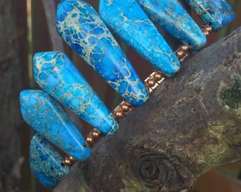 Turquoise Picasso Jasper Crown Tiara