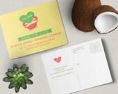 Wedding Crab Save the Date Postcard